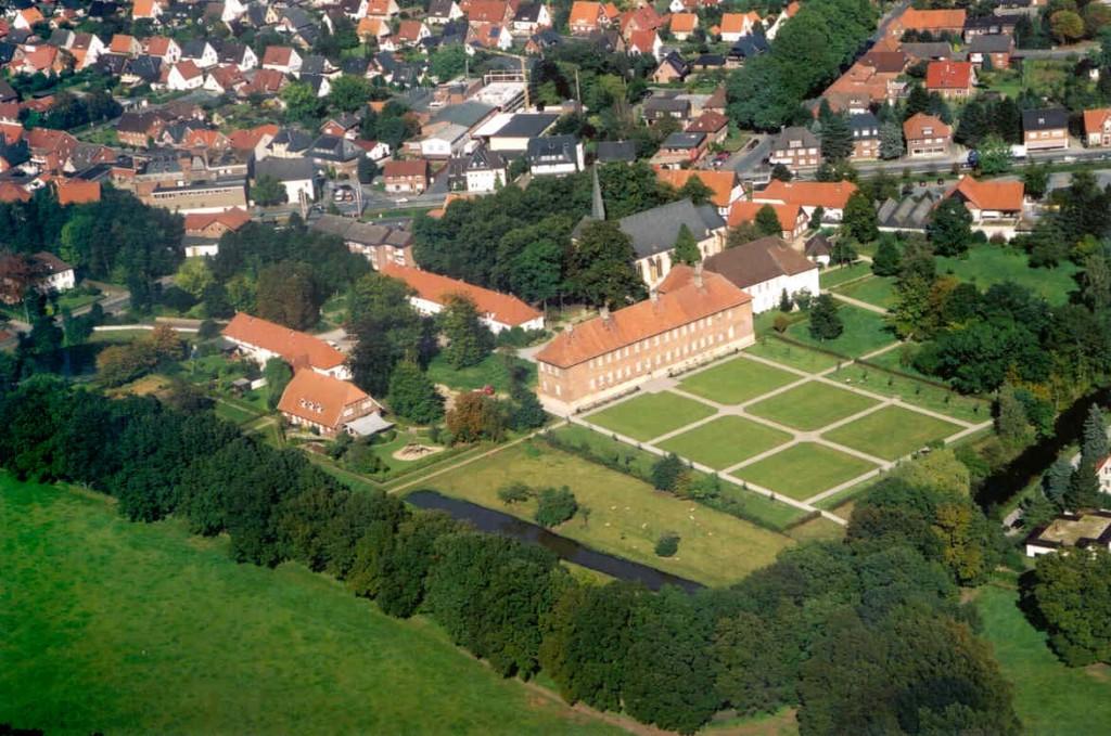 Propstei Clarholz Luftaufnahme